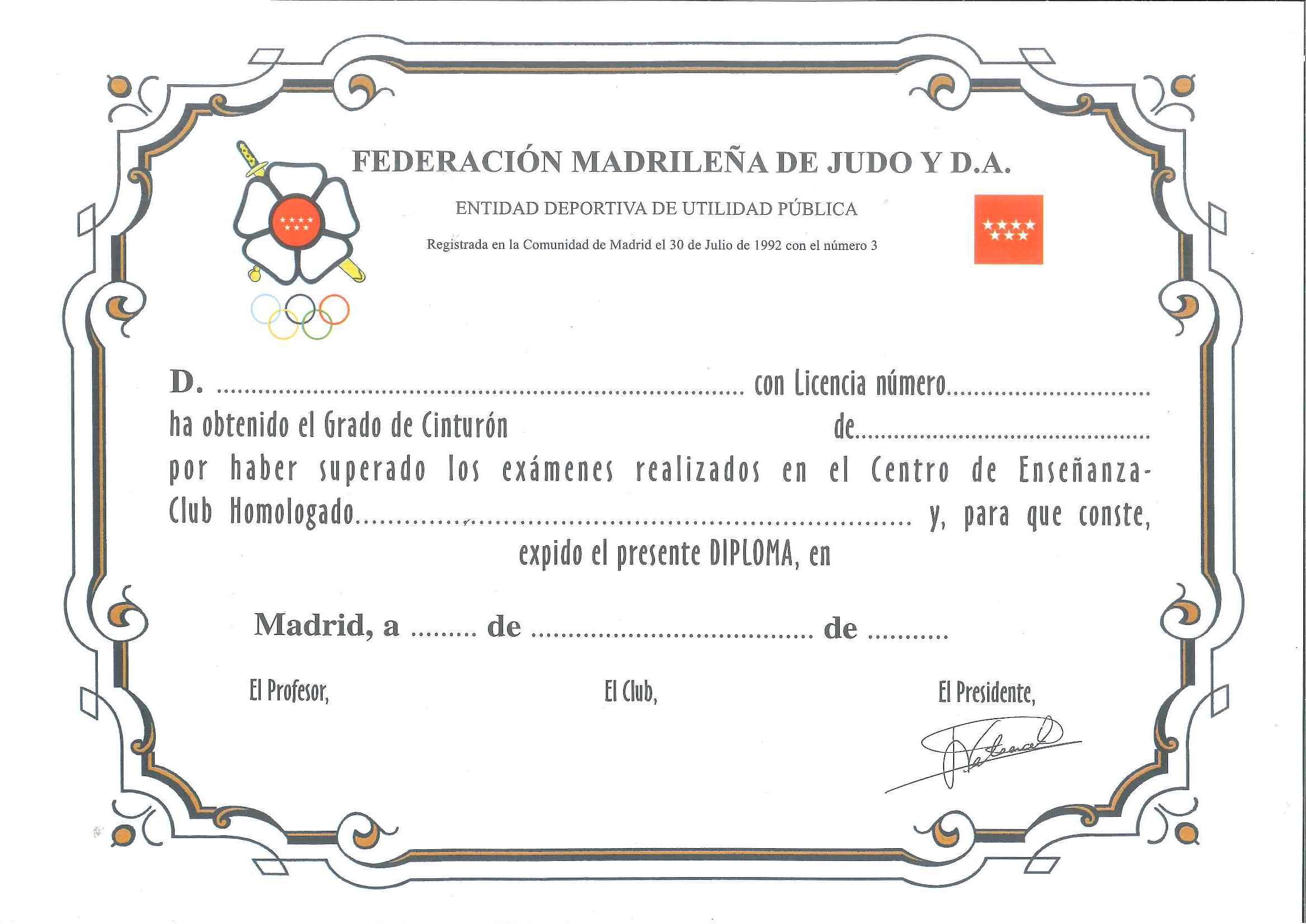 Resultado de imagen de judo diplomas