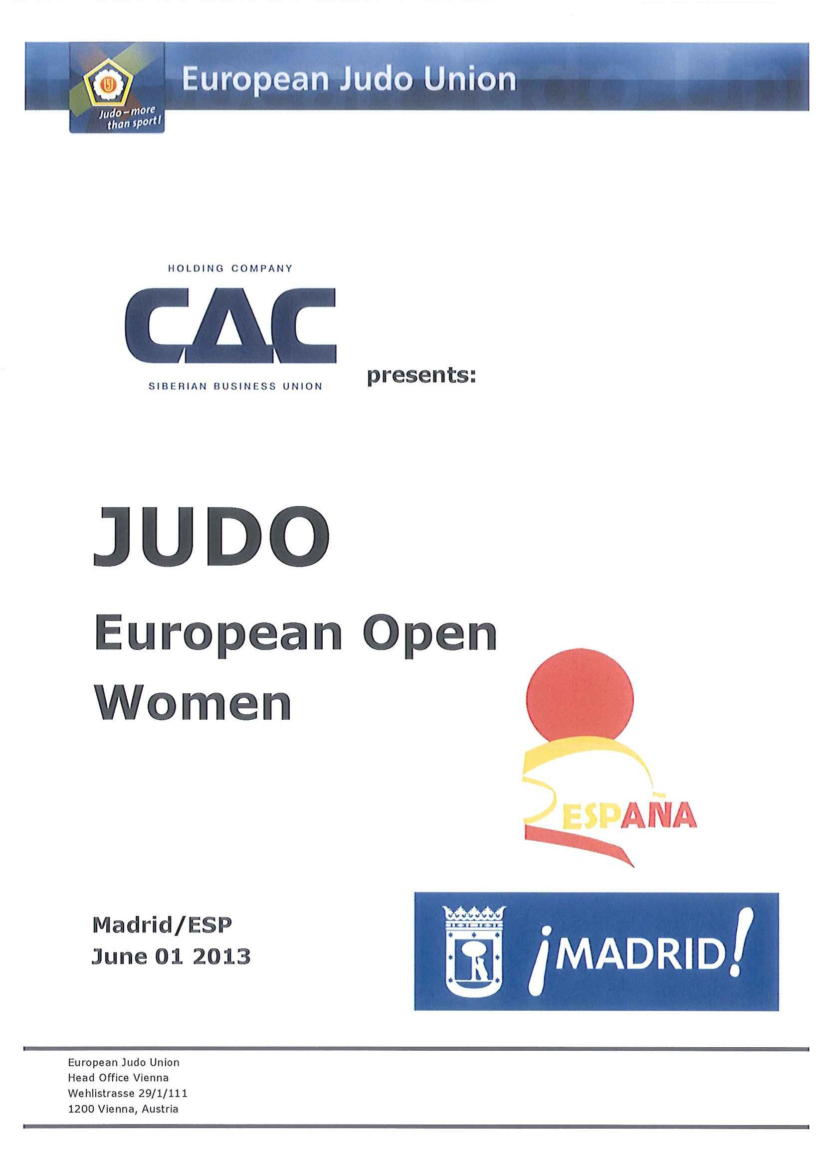 EUOPEAN OPEN WOMEN MADRID 2013